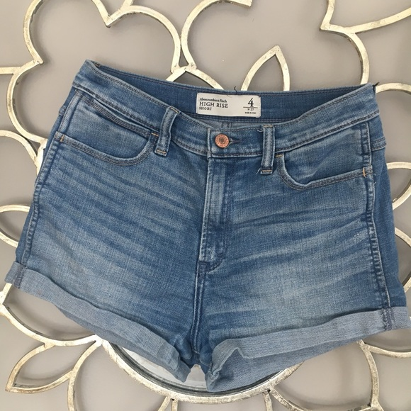 Abercrombie & Fitch Pants - Abercrombie and Fitch High Rise Denim Shorts 4